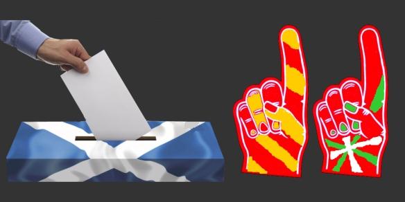 Tras el referéndum por la independencia de Escocia otros territorios esperan su turno